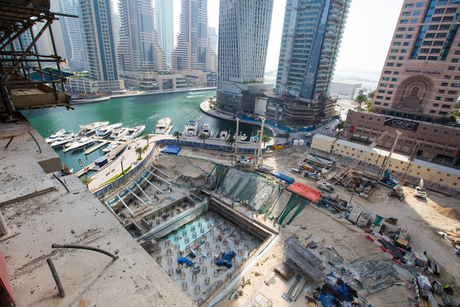 In pictures: Construction at Marina Gate, Dubai