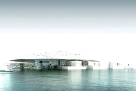 Video: Louvre AD transforms into museum on the sea