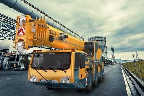 Terex unveils three-axle Demag all-terrain cranes