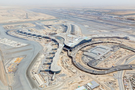 Abu Dhabi Int'l Airport's Midfield Terminal Building now 86% complete