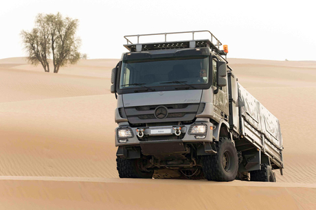 EMC inaugurates desert testing facility for Mercedes-Benz trucks