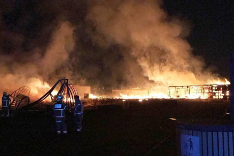 Fire destroys workers' caravans on Nakheel's Warsan site in Dubai