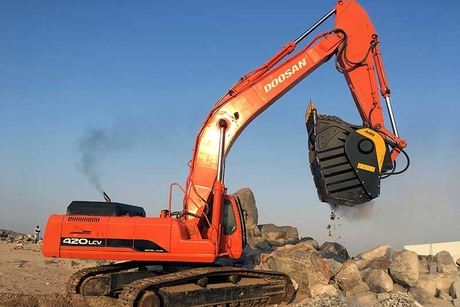 Crushing victory: MB Crusher is playing to its strengths at a Riyadh lime quarry