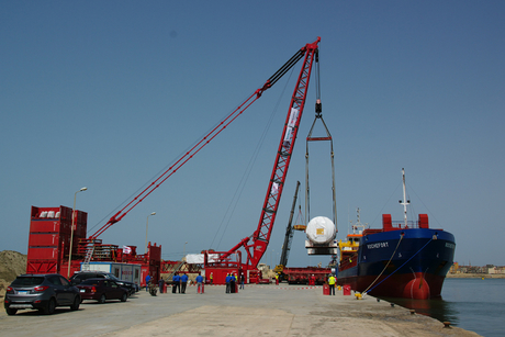 In Pictures: Harbour adapted to aid Egypt's Burullus Power Plant project
