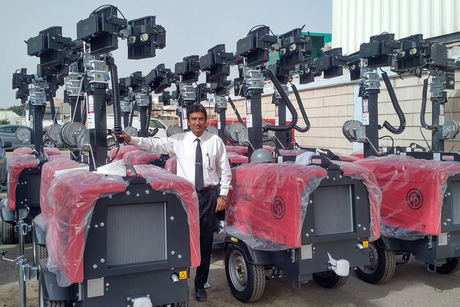 Chicago Pneumatic sells 25 LED light towers to Kuwait's GTE