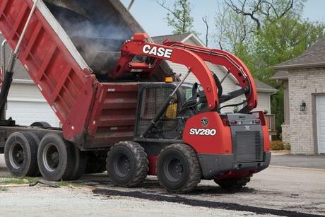 Case unveils limited edition red skidsteer loaders
