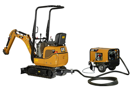Cat debuts mini-excavator with portable hydraulics