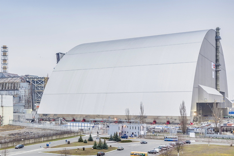 In pictures: Dome installed to seal off Chernobyl