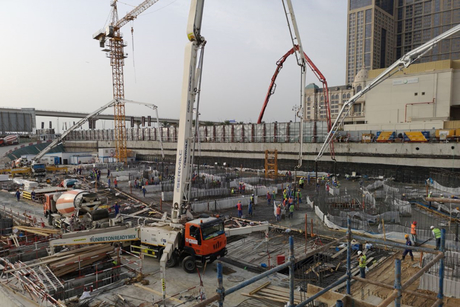 Raft foundation laid in 24 hours for Damac's $2bn Dubai project