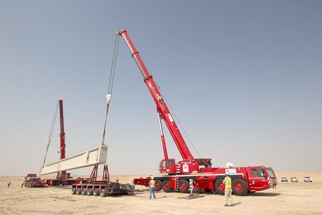 Demag cranes place 105t beams for Kuwait's Sheikh Jaber Causeway