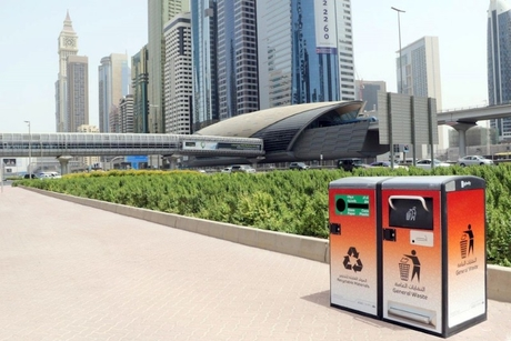 Dubai's Sheikh Zayed Road fitted with 100 'smart' waste boxes