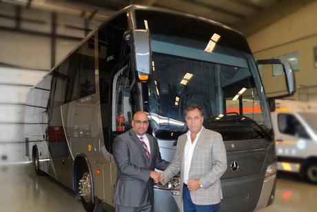 EMC and Jordan bus firm develop custom MB coaches