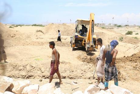 ERC begins construction of water project in Lawdar, Yemen