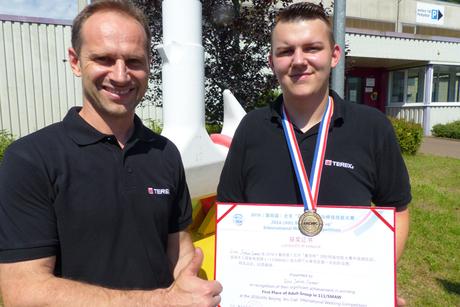 Terex apprentice named world welding champion