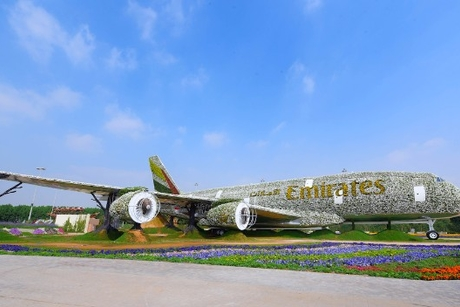 Video: Building Emirates' A380 floral installation