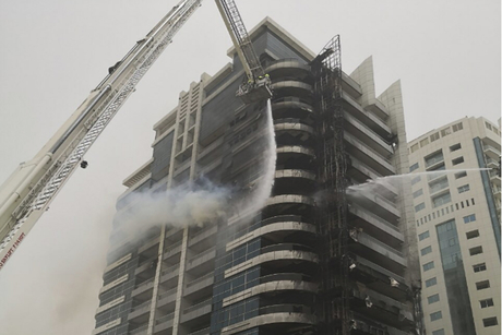 Fire hits Zen Tower in Dubai Marina