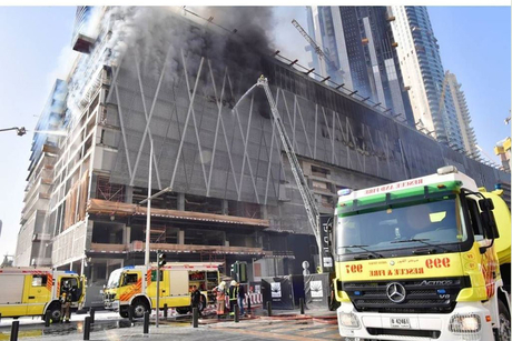 Video: Fire near Dubai Mall brought under control