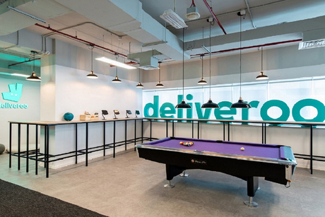 Deliveroo's new Sheikh Zayed Road office in Dubai fitted out