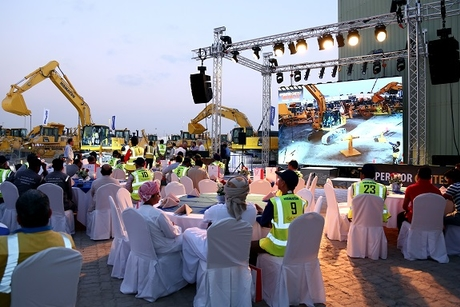 Komatsu excavator contest tests UAE operators' control skills