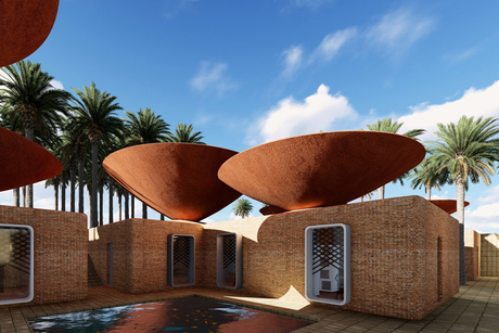 Iranian architects design roof to conserve water