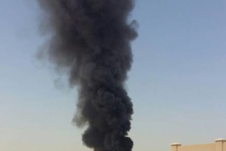 Fire contained at construction site in Dubai