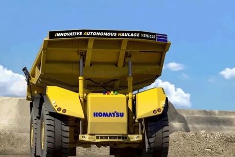 Komatsu unveils driverless autonomous dump truck