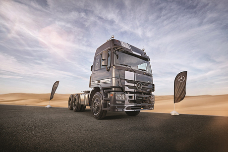 Mercedes-Benz unveils special edition Actros model