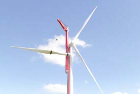 Mammoet unveils wind turbine climbing concept cranes
