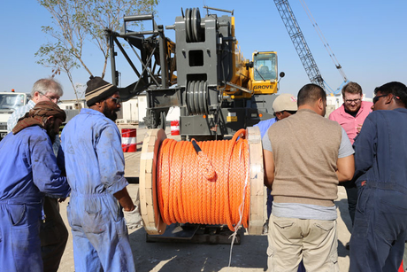 Manitowoc, CCC test synthetic hoist rope in Qatar