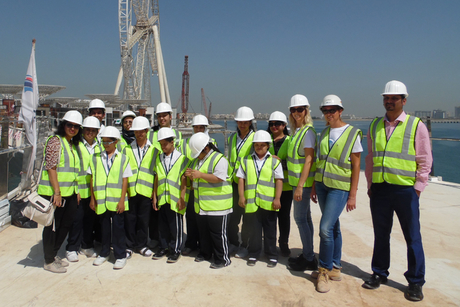BESIX initiative provides construction art workshop for students