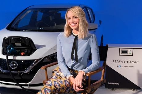 Nissan Leaf battery powers Margot Robbie's Facebook livestream
