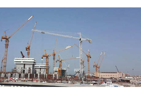 NFT delivers 10 Potain tower cranes to Royal Atlantis Residences site in Dubai