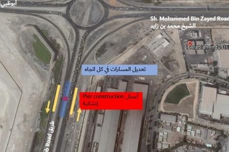RTA diverts traffic on Jebel Ali-Lehbab Road