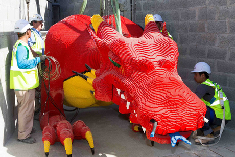Half-tonne 'Red Dragon' arrives at Legoland Dubai