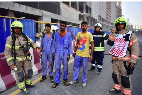 UAE: Workers rescued from Downtown Dubai fire