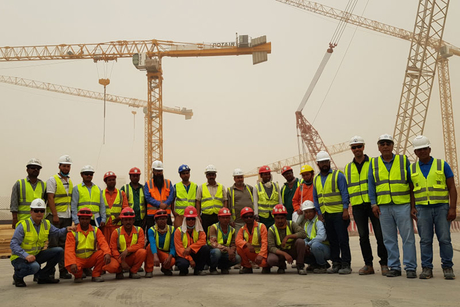 Tower crane safety sessions reach contractors of Saudi's Riyadh Metro