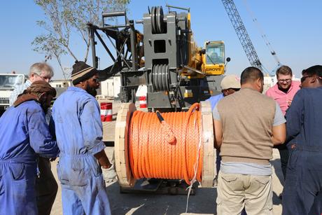 Samson K-100 hoist rope passes CCC tests in Qatar