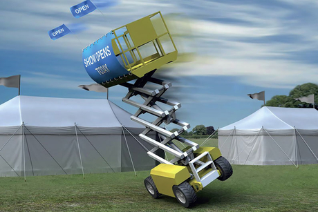 Do not attach banners to scissor lifts, warns IPAF