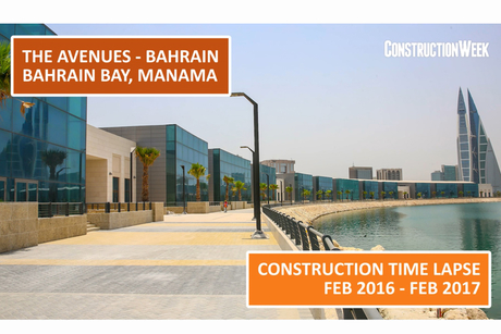 Video: 12-month time lapse shows The Avenues Bahrain take shape