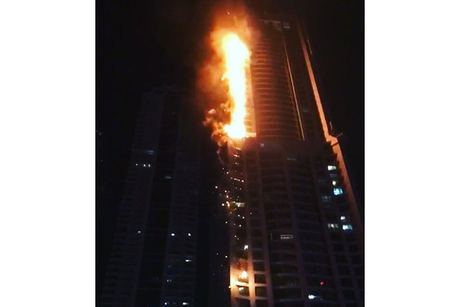 Fire hits Dubai's Torch Tower for second time in 30 months