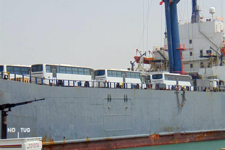 UAE delivers consignment of 53 school buses to Yemen
