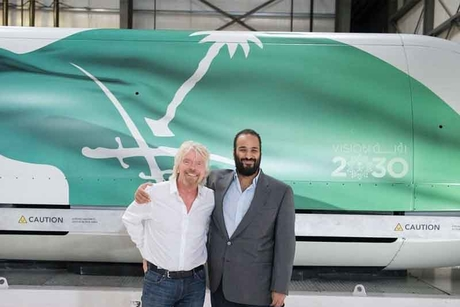 Saudi Crown Prince meets Virgin Hyperloop One's Richard Branson