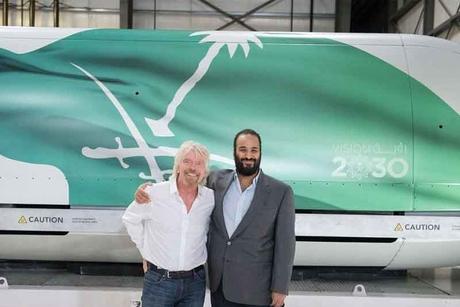 Saudi Crown Prince meets Virgin Hyperloop One's Richard Branson
