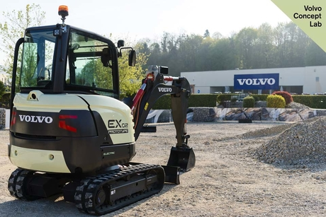 Volvo CE unveils fully electric compact excavator prototype