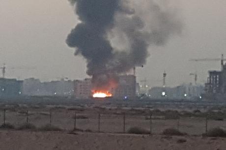 Video: Fire hits labourers' caravans on Nakheel's Warsan worksite