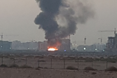 Video: Fire hits labourers' caravans on Nakheel's Warsan worksite
