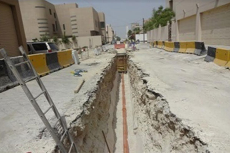Bahrain's Sanad sewerage network more than 75% complete