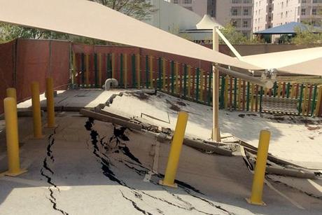 Qatar: Parking lot caves in at Barwa City
