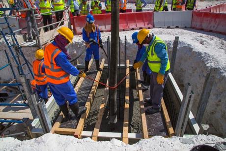Qatar: First concrete poured at Al Rayyan Stadium