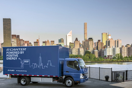 Mitsubishi Fuso launches first light truck with universal charger